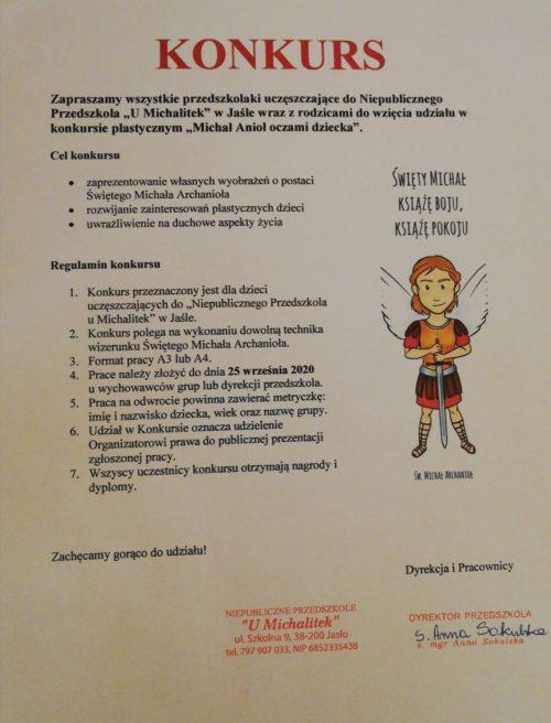 """Konkurs plastyczny ,,Michał Anioł oczami dziecka"""""""